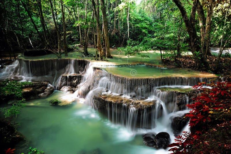Water fall in thailand. Water fall, hua mae kamin, kanchanaburi stock image