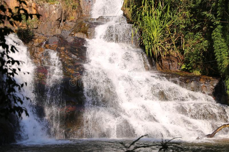 Water fall valley love background. In dalat viet nam beautiful stock images