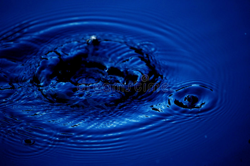 Download Water with falling drops stock image. Image of liquid, drops - 967177