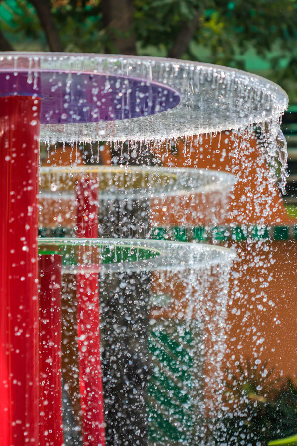 Water falling in the fun park royalty free stock image