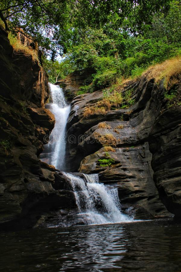 Water falls are the best nature& x27;s creation ever made. stock images