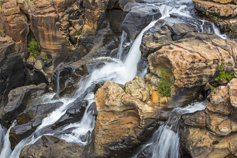 Water falls, Bourke's Luck Potholes, South Africa. Water falls at Bourke's Luck Potholes, South Africa royalty free stock images