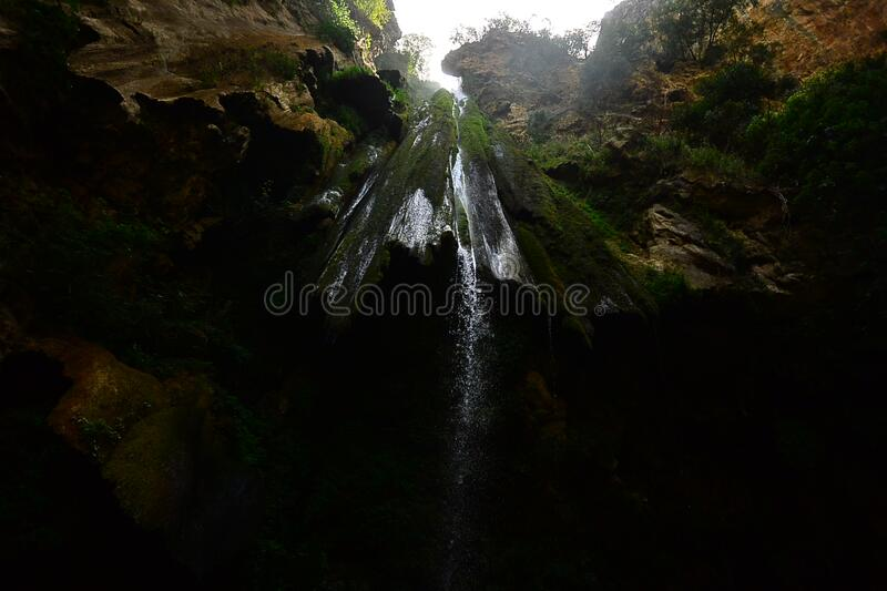 Water Falls Cave stock photography