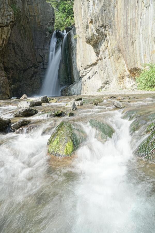 Water Falls Into Rocky Pool Free Public Domain Cc0 Image