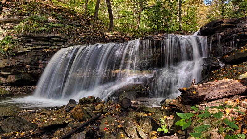 Water Falls in Time Lapse Photography royalty free stock photos