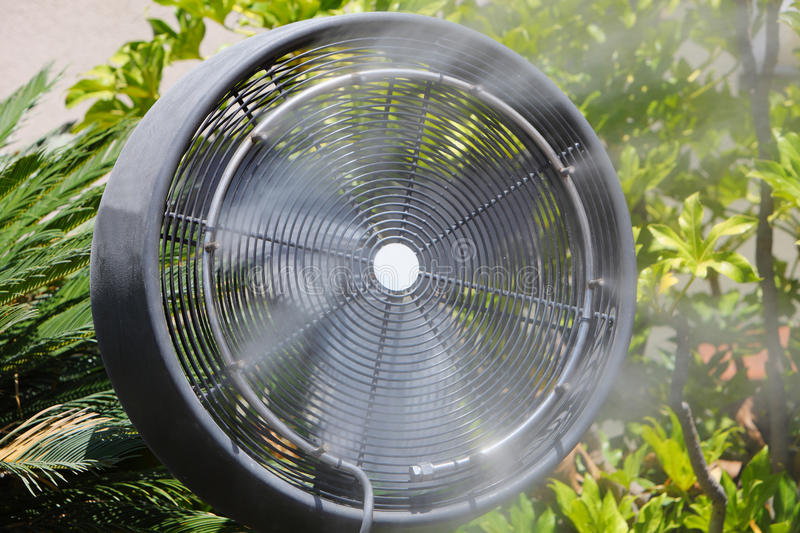 Download Water fan in summer stock photo. Image of closeup, green - 26253528