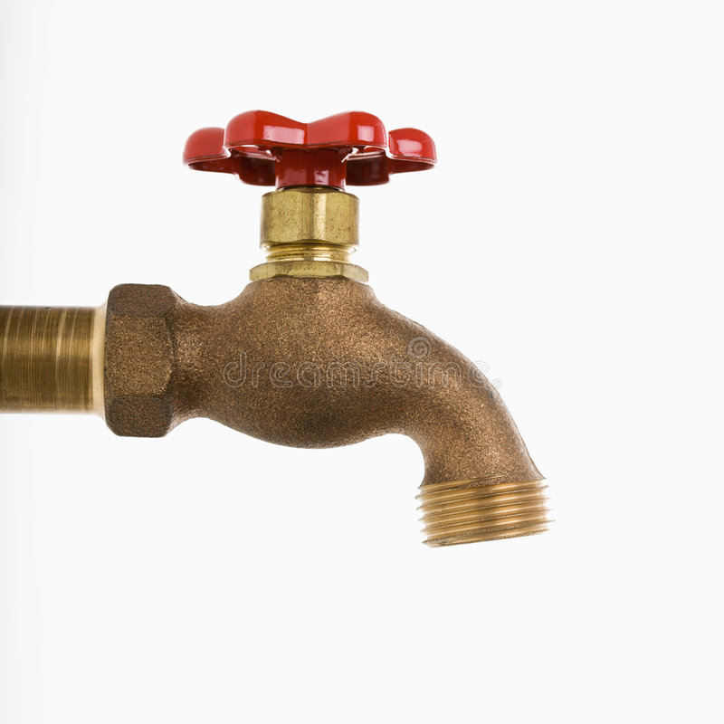Download Water faucet. stock photo. Image of studio, life, metal - 3531846