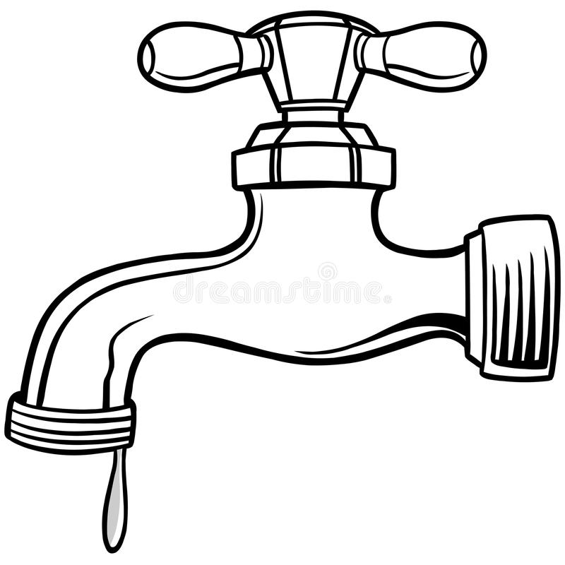 Water Faucet Illustration stock vector. Illustration of spigot ...