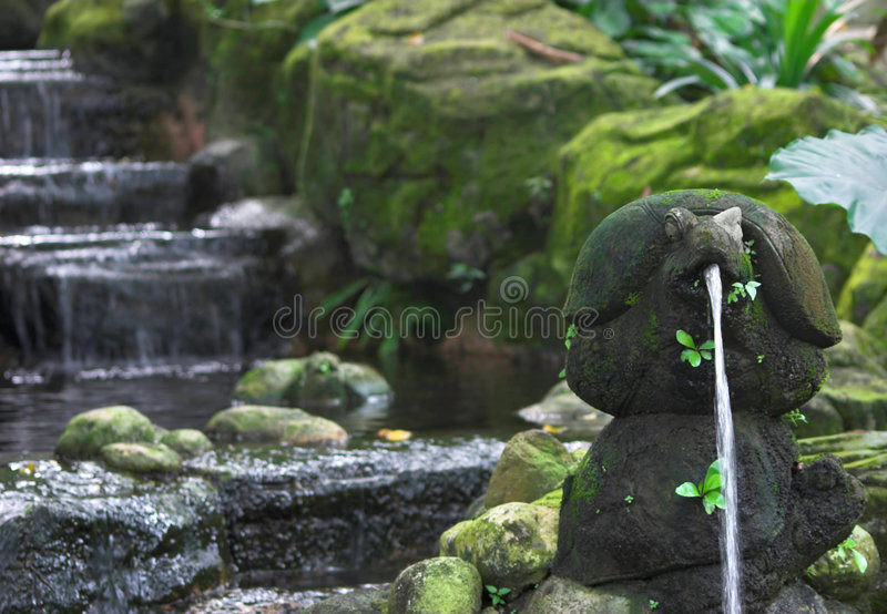 Water feature royalty free stock photography