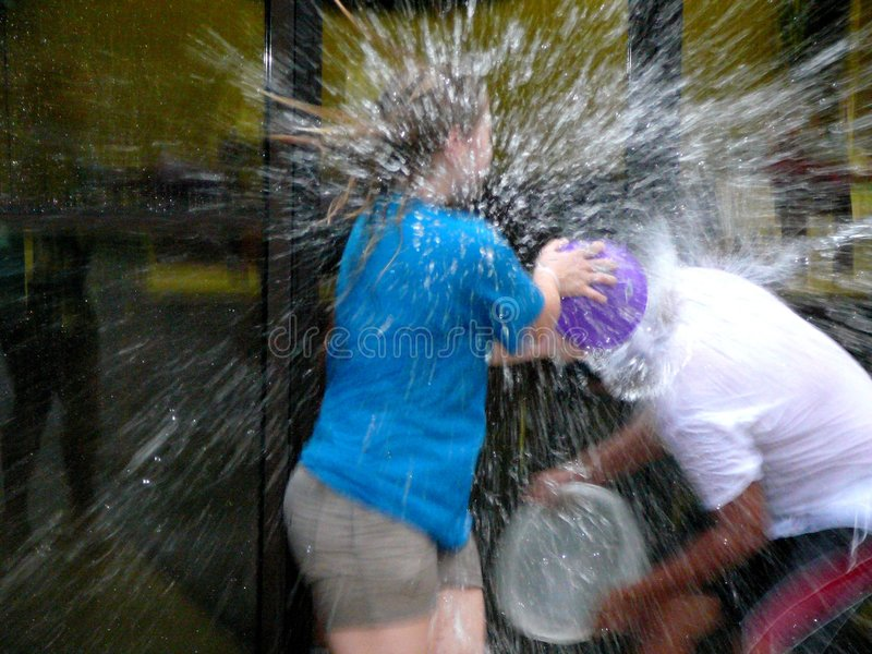 Water Fight royalty free stock photos