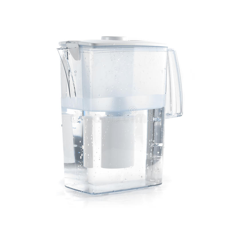 Water filter. Isolated on a white royalty free stock image