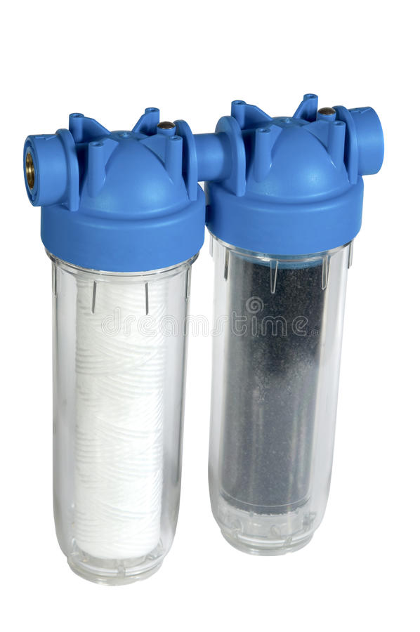 Water filter. On white background stock image