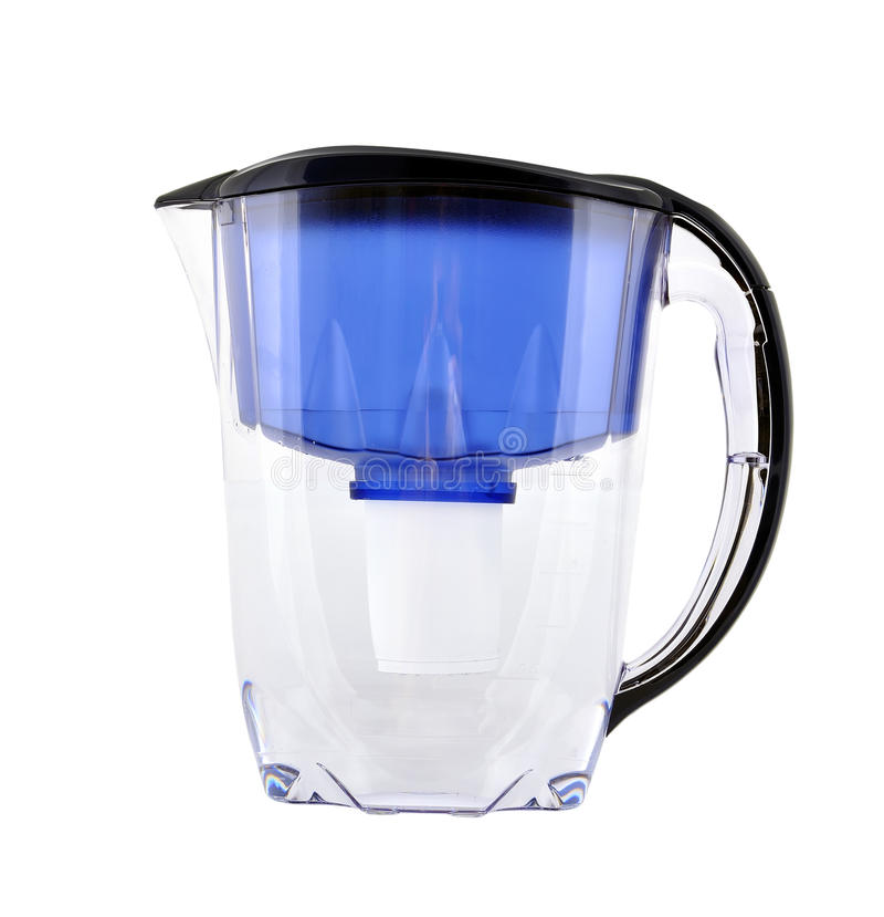 Water filter. On a white background stock photos