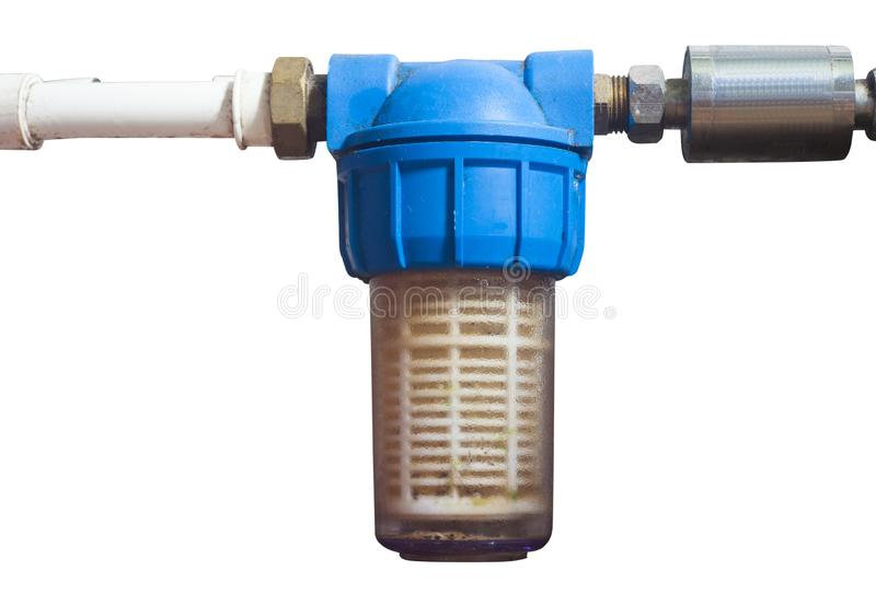 Water filter for cleaning and health isolated. On white background stock photos