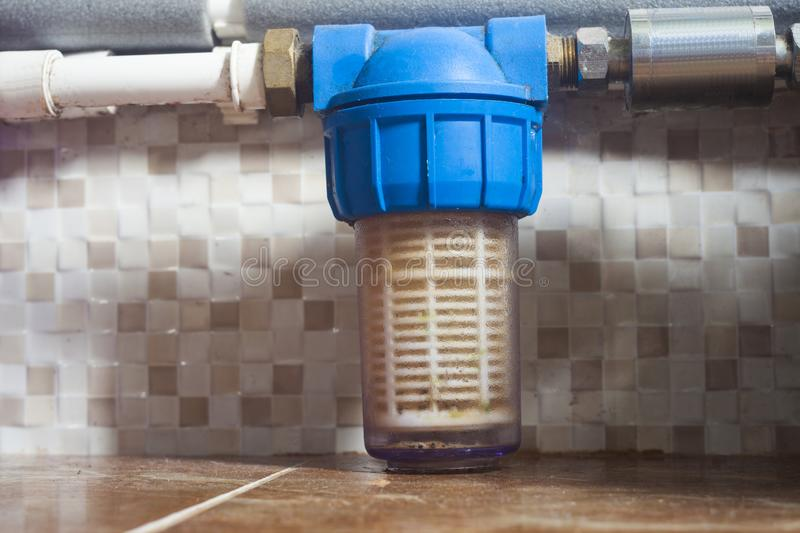 Water filter for cleaning. And health stock photography