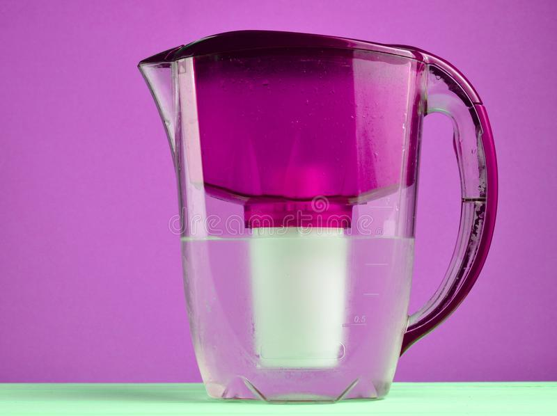 Water filter jug.  stock images