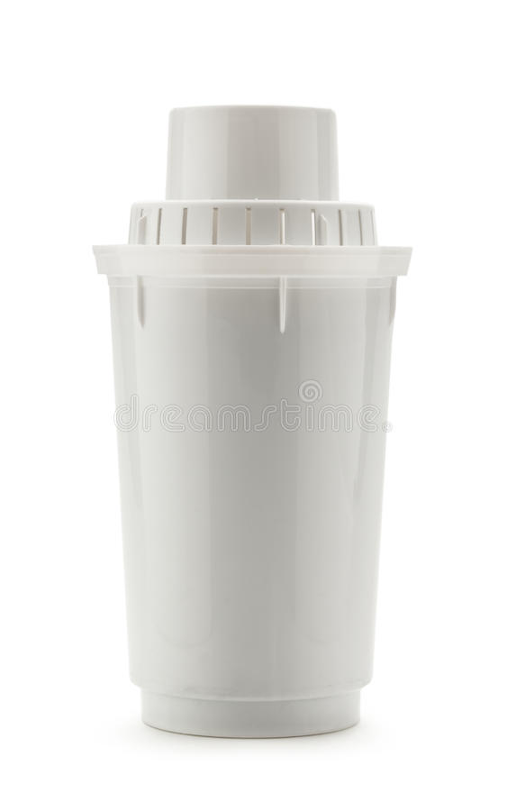 Water filter. New water filter tube on white background royalty free stock images