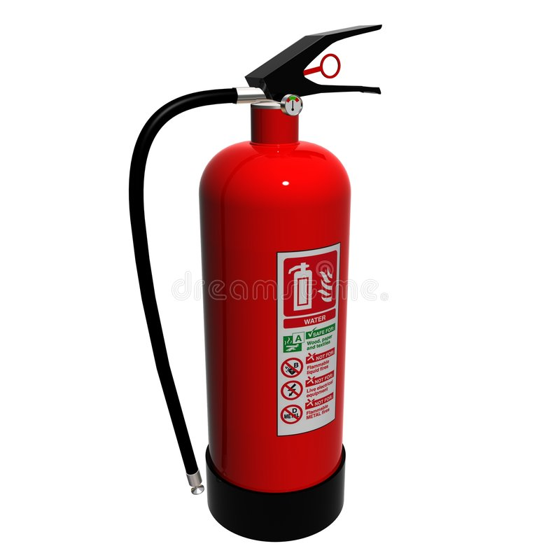 Water Fire Extinguisher royalty free illustration