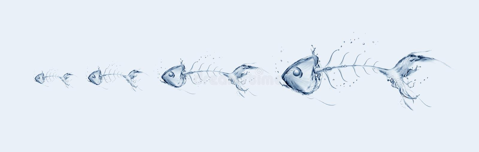 Download Water Fishbone Chain stock illustration. Image of small - 18938479