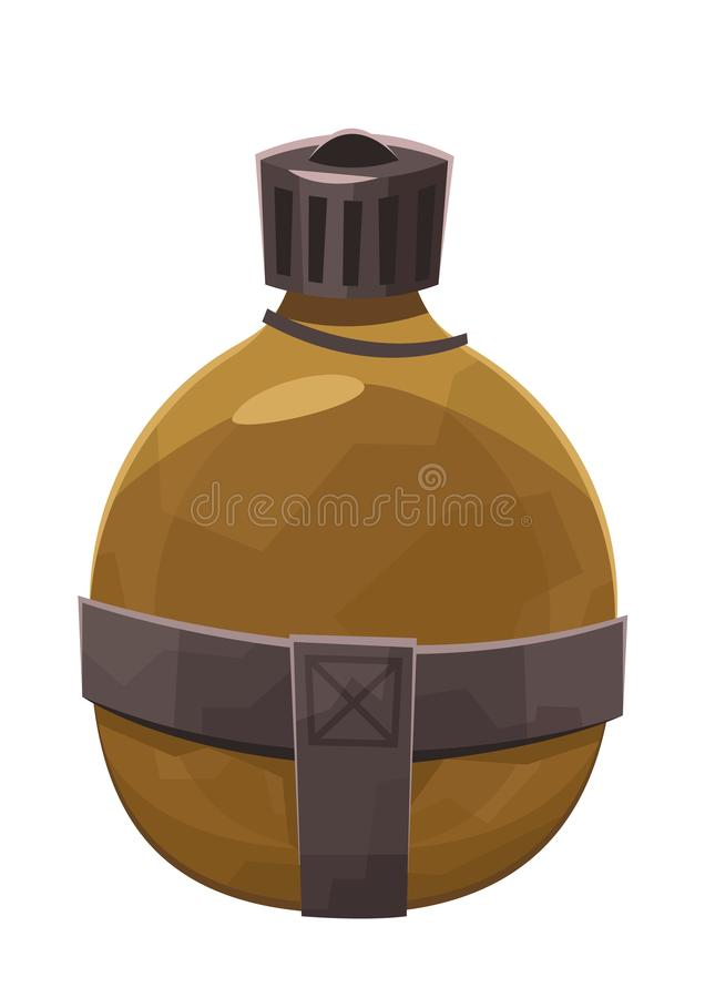 Water flask in cartoon style isolated on white background stock illustration