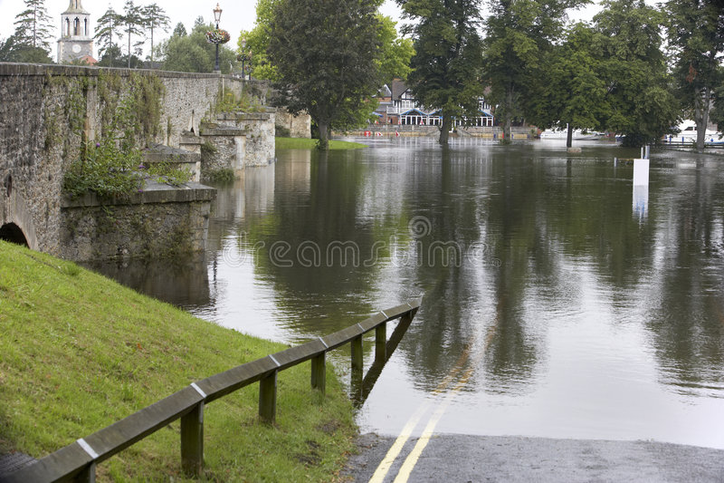 Download Water Flooding Roads Royalty Free Stock Images - Image: 8755199