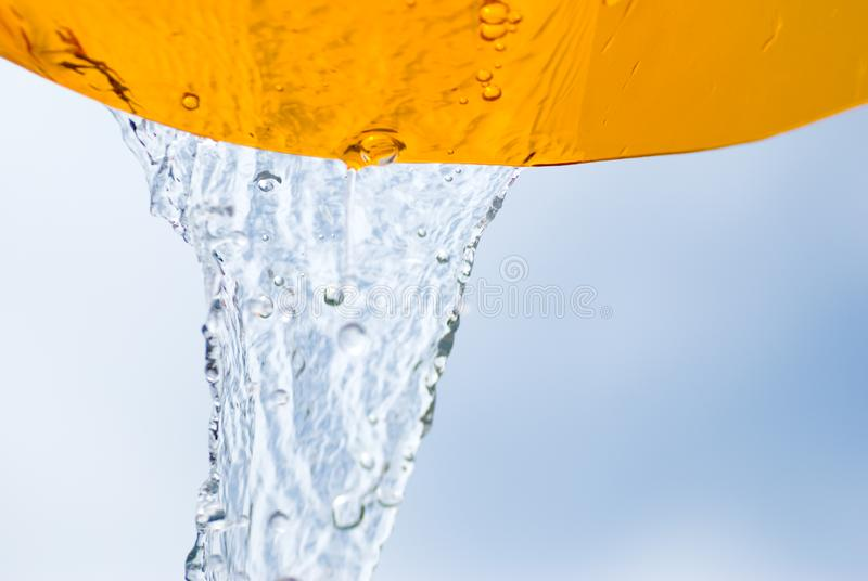 Water flow stock image