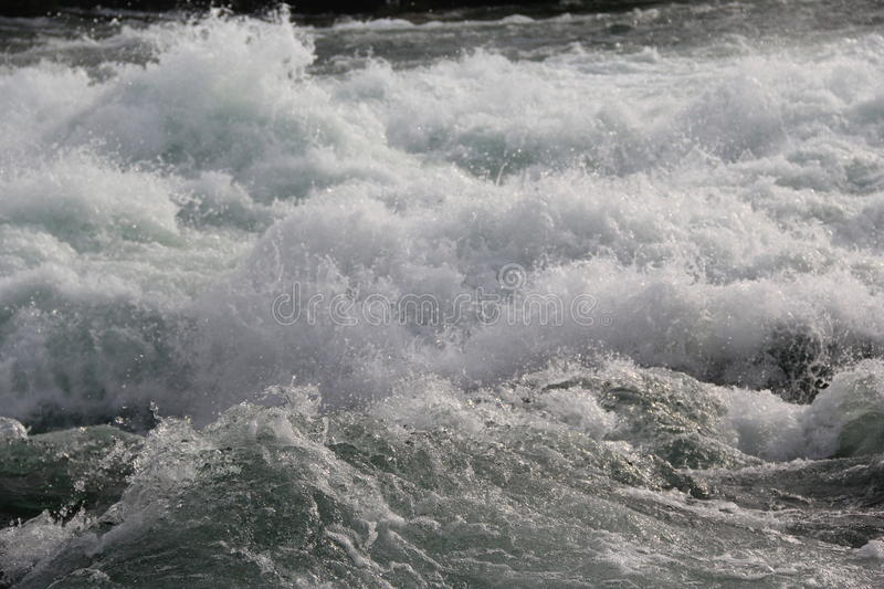 Water-flow on the Niagara river stock photo