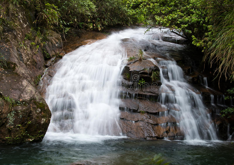 Download Water flowing over falls stock image. Image of nature - 32211645