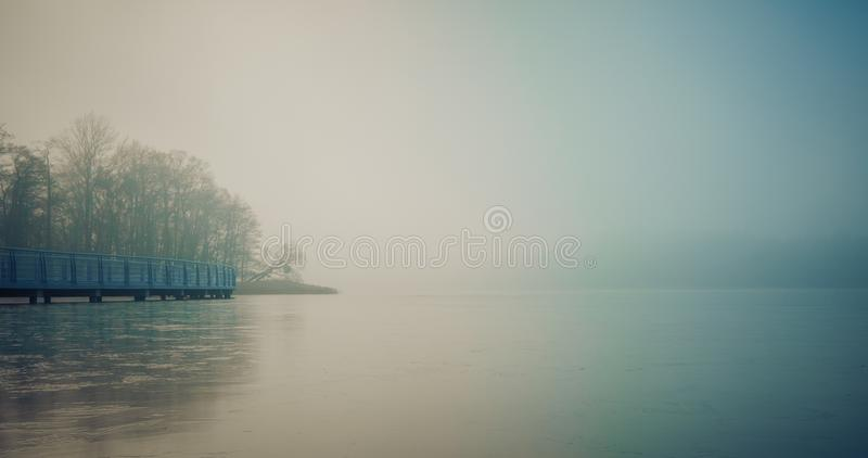 Water, Fog, Waterway, Calm royalty free stock photography