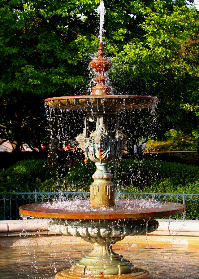 Download Water fountain stock image. Image of drops, garden, tree - 120017