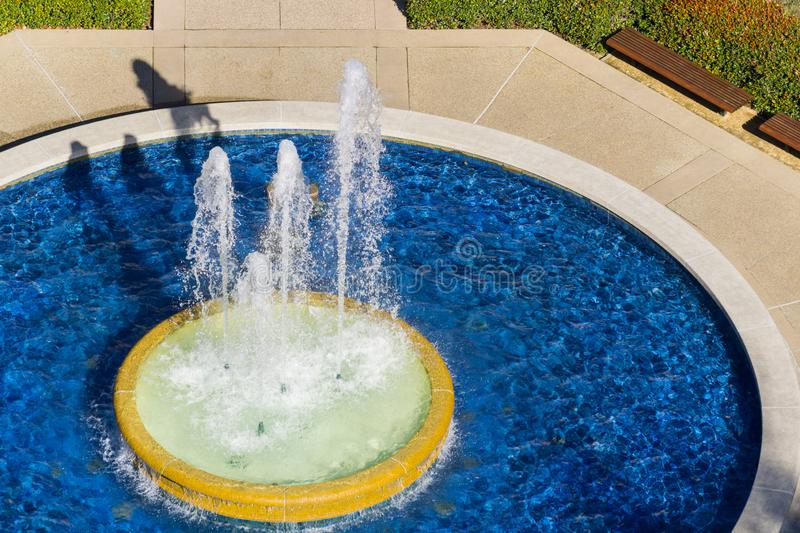 Water fountain, California. Aerial view of water fountain, California royalty free stock photography
