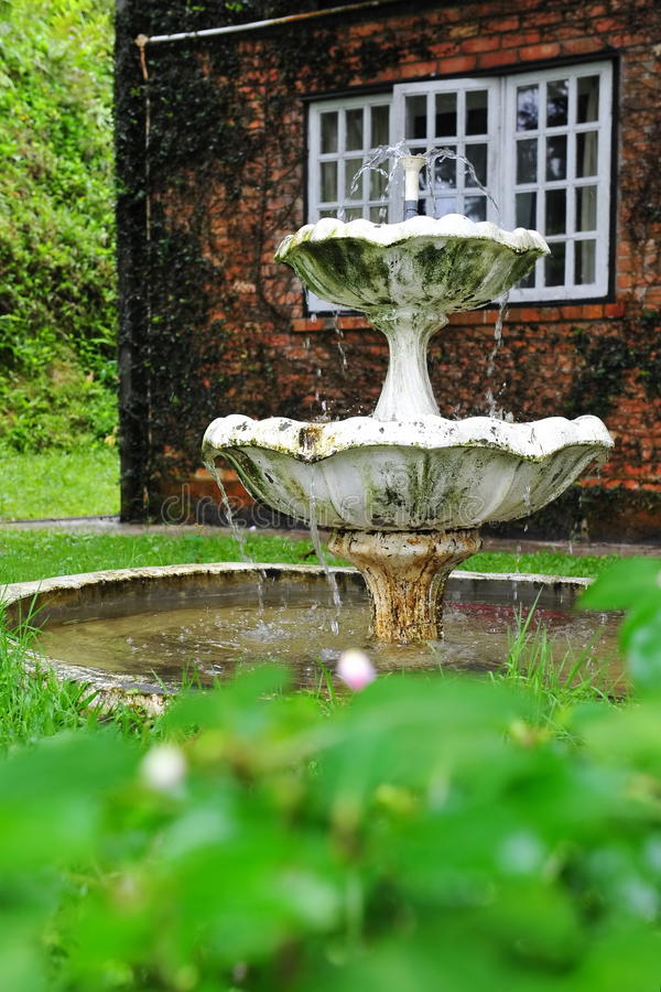 Download Water Fountain In A Home Garden Stock Photo   Image: 17700062