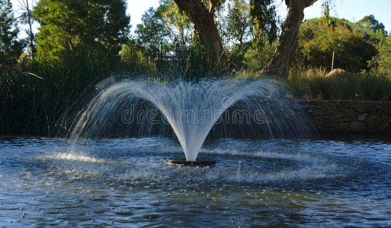 Water fountain in park. Close up view of water fountain in park royalty free stock photo