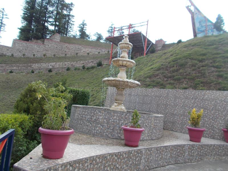 Water fountain. Park, water, waterfountain, shimla royalty free stock photos