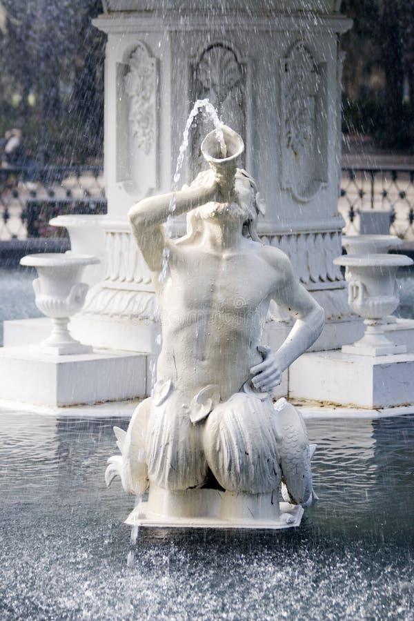Water fountain sculpture stock photos