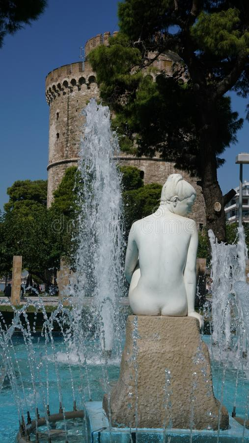 Water, Fountain, Sculpture, Statue royalty free stock image
