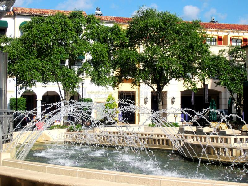 USA, Florida, Fort Lauderdale, City Fountain stock photos
