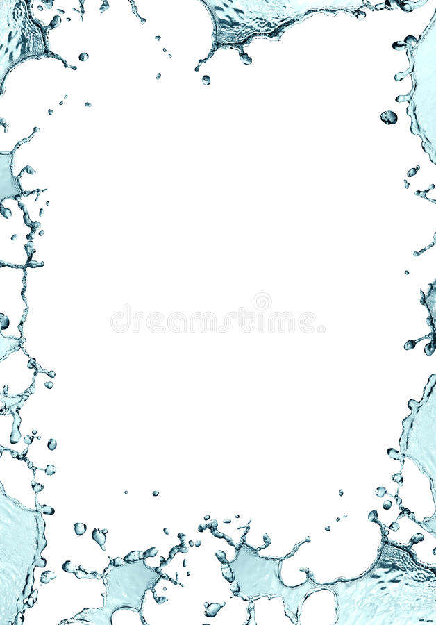 Water Frame stock image. Image of border, bubble, motion - 25005157