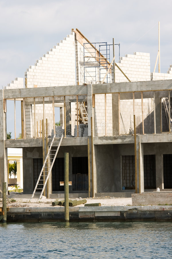 Download Water Front House Under Construction Stock Image - Image: 4543051