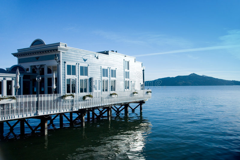 Download Water Front View House Restaurant Stock Image - Image of sausalito, marina: 2313589