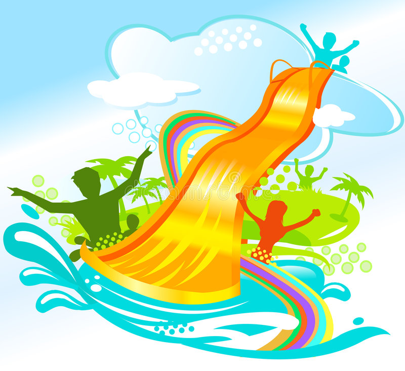 Inflatable Slide Clip Art: Water Fun Stock Image
