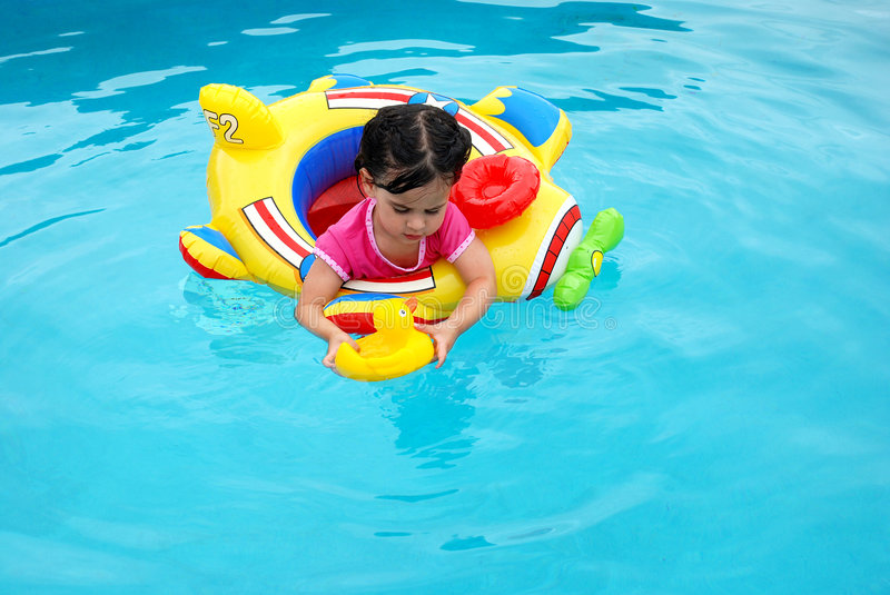 Download Water fun stock photo. Image of girl, water, inflatable - 7330180