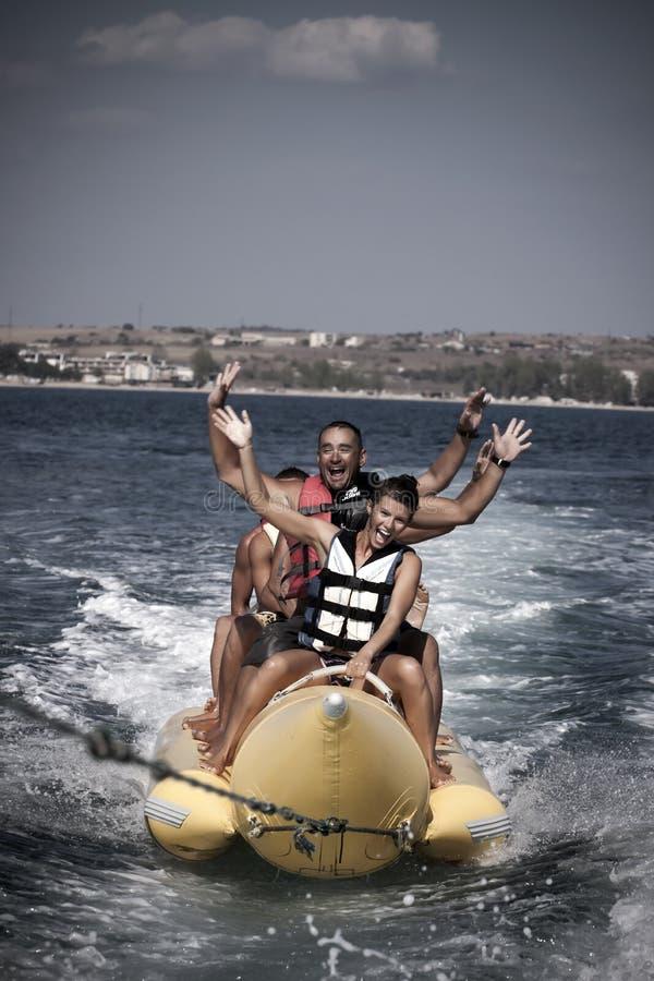 Free Water Funnny Sports-banana. Stock Photo - 33960520