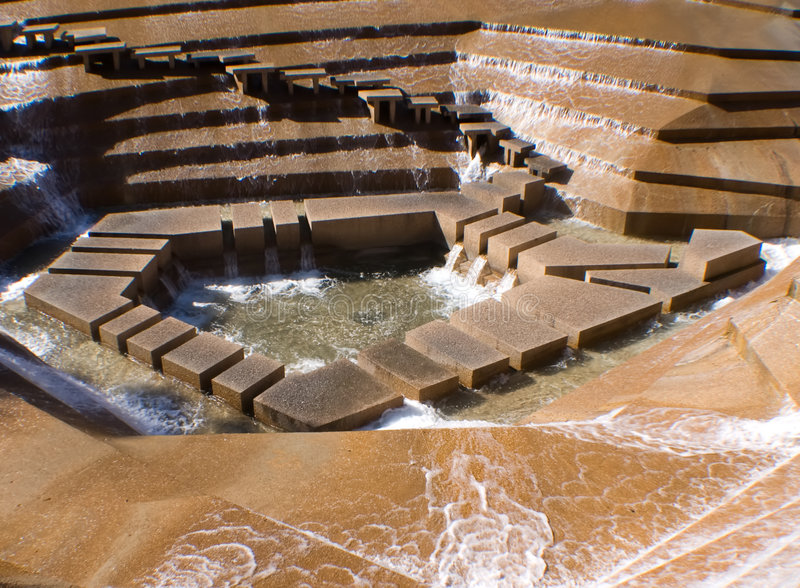 Download Water Garden stock image. Image of texas, waterfall, concrete - 5076699