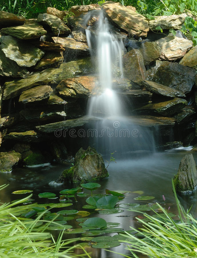 Download Water garden falls stock image. Image of water, plants - 20401231