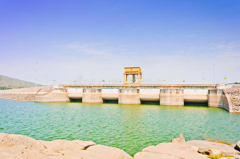 Download Water Gate In Ubolrat Dam, Thailand Stock Photo - Image of flowing, water: 29030610