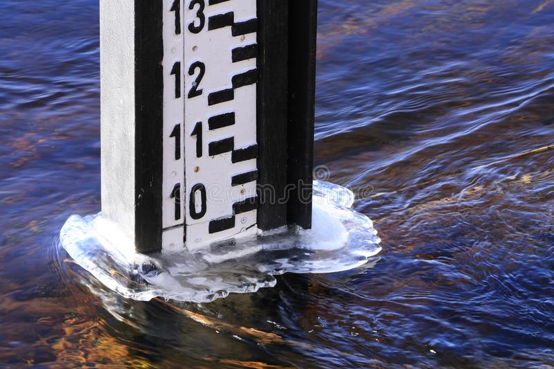Water gauge royalty free stock photo