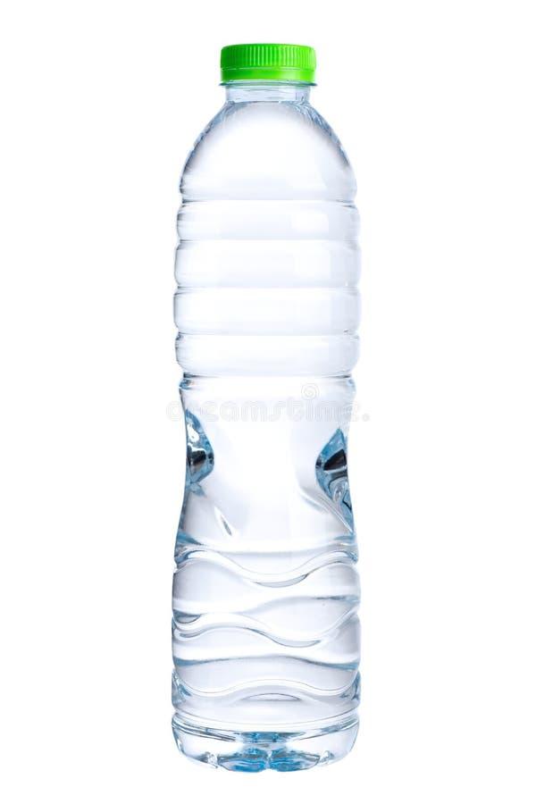 Water in ge?soleerde fles stock fotografie