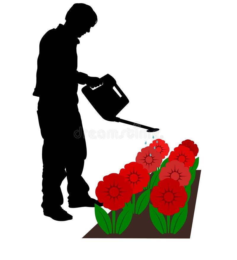 Water gevende Bloemen vector illustratie