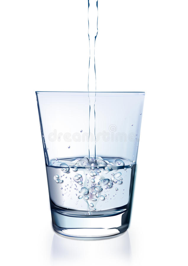 Download Water in glass stock vector. Image of spray, macro, drinking - 10770219